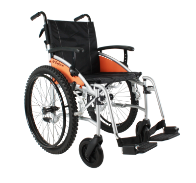 Excel G Explorer Self Propel ALL Terrain Wheelchair Silver Frame 20 inch wide seat