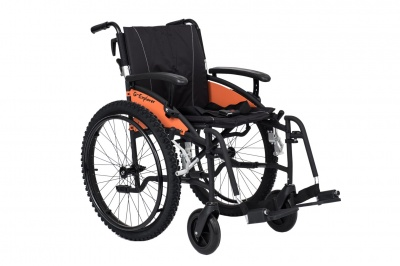Excel G-Explorer Self Propel ALL Terrain Wheelchair Black Frame 16 inch slim seat