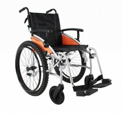 Excel G-Explorer Self Propel All Terrain Wheelchair Silver Frame 16 inch slim seat