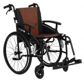 Excel G-Logic Lightweight Self Propelled Wheelchair 16'' Black Frame and Brown Upholstery Slim Seat