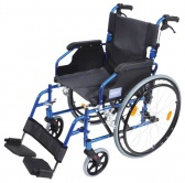 A* Deluxe Lightweight Self Propelled Aluminium Wheelchair Blue Frame