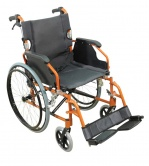 A* Deluxe Lightweight Self Propelled Aluminium Wheelchair Orange Frame