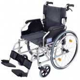 A* Deluxe Lightweight Self Propelled Aluminium Wheelchair Silver Frame